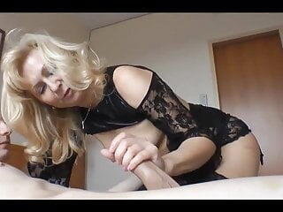 Slut mature fucks young lads cock