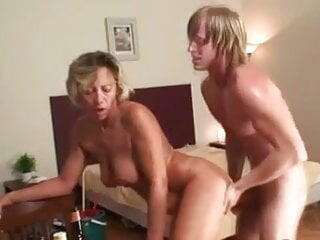 Mature Cleaning Lady Fucks Young Cock !